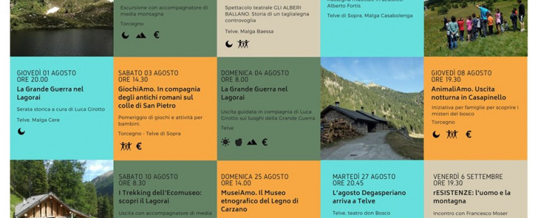 ESTATE 2019 all'Ecomuseo del Lagorai